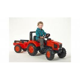 FALK - Šlapací traktor 2060AB Kubota M135GX s vlečkou