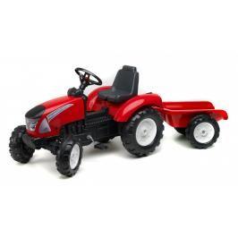 FALK - Šlapací traktor 3021AB Garden Master s vlečkou červený