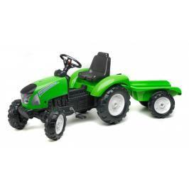 FALK - Šlapací traktor 3023AB Garden Master s vlečkou zelený