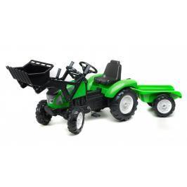 FALK - Šlapací traktor 3023 Garden MSTER s nakladačem a vlečkou zelený