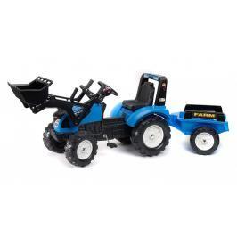 FALK - Šlapací traktor Landini s nakladačem a vlečkou 3010