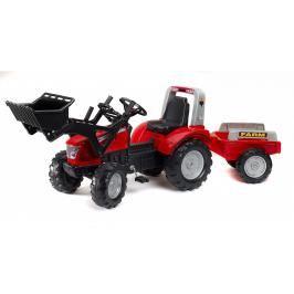 FALK - Šlapací traktor McCormick s nakladačem a vlečkou 3020