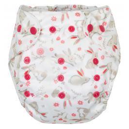 GMINI - Plenkové kalhotky s potiskem růžová zajíčci UNI