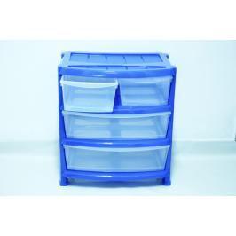 HEIDRUN - Skříňka 4 zásuvky - modrá