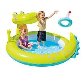INTEX - nafukovací dětský bazének Krokodýl se sprchou 57431
