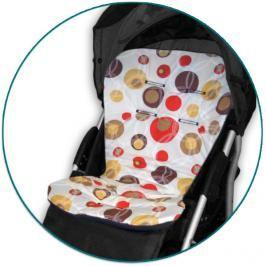 IVEMA BABY - Vložka do kočárku Maxi Color - hnědé bubliny / hnědá