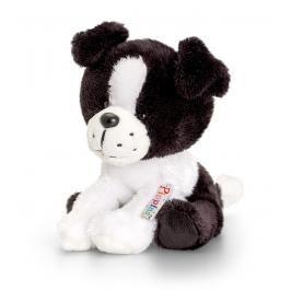 KEEL TOYS - Pippins Plyšový pejsek černo-bílý 14cm