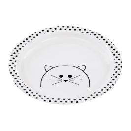 LÄSSIG - Dětský talíř Plate with Silicone Little Chums cat