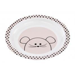 LÄSSIG - Dětský talíř Plate with Silicone Little Chums mouse