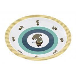 LÄSSIG - Dětský talíř Plate with Silicone Wildlife meerkat