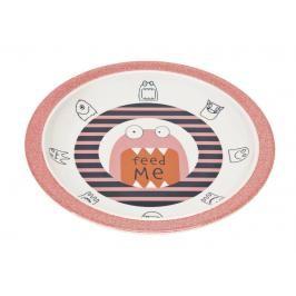 LÄSSIG - dětský talíř, Plate with Silicone Little Monsters mad mabel