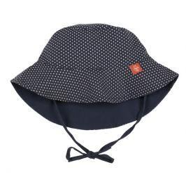 LÄSSIG - Klobouček Sun Protection Bucket Hat - polka dots navy 6-18 měsíců