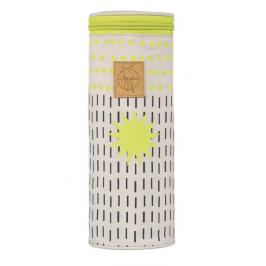 LÄSSIG - Obal na láhev Casual Bottle Holder Single - Dots Strokes lime