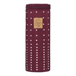 LÄSSIG - Obal na láhev Casual Bottle Holder Single - Dotted lines burgundy