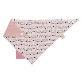LÄSSIG - Bryndák Interlock Bandana with silicone teether Little Chums mouse