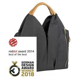 LÄSSIG - Taška na rukojeť Green Label Neckline Bag denim black