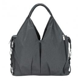 LÄSSIG - Taška na rukojeť Green Label neckline Bag Spin Dye - black mélange