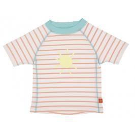 LÄSSIG - Tričko Rashguard Short Sleeve Girls - sailor peach 18 měsíců