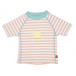 LÄSSIG - Tričko Rashguard Short Sleeve Girls - sailor peach 24 měsíců