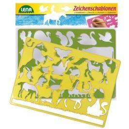 LENA - Kreslící šablony (koně a kočky) 65767
