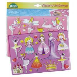 LENA - Kreslící Šablony ( Princezny, Baletky)