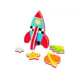 MEADOW KIDS - Pěnová stavebnice do vany Raketa