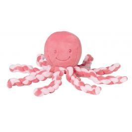 NATTOU - První hračka miminka chobotnička PIU PIU Lapide pink coral 0m +