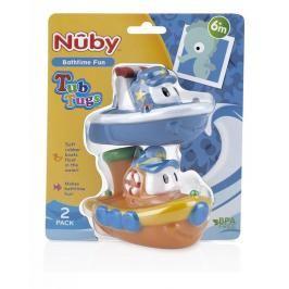 NUBY - Lodičky do vany 2ks 6 + m - modrá, žlutá