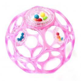 OBALL - Hračka Rattle 10 cm, 0m + růžová