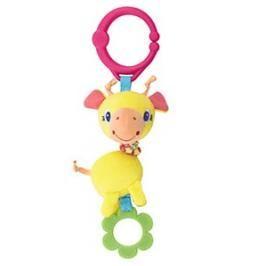 PRETTY IN PINK - Hračka na C-kroužku Shimmy Shakers 0m + žirafa
