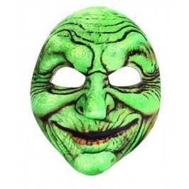 RAPPA - Karnevalová maska čarodějnice zelená