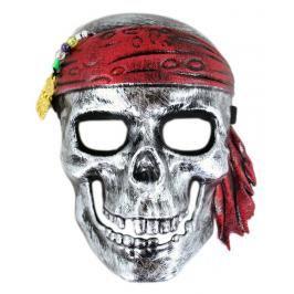 RAPPA - Karnevalová maska lebka piráta se šátkem