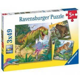 RAVENSBURGER - Dinosauři a čAction Series Mini 3x49 dílků