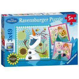 RAVENSBURGER - Disney Ledové království Fever 3x49 dílků