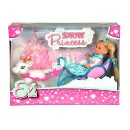 SIMBA - Panenka Evička Sněhová princezna s kočárem