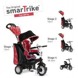 SMART TRIKE - tříkolka 810 Chic 4v1 Červeno-černá