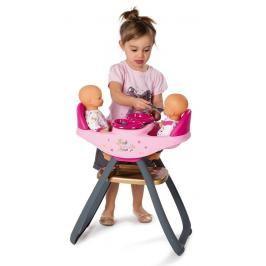 SMOBY - 220313 Židle Baby Nurse na krmení pro panenky dvojčata