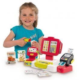 SMOBY - 350107 Elektronická pokladna se čtečkou kódů, karet a s váhou červená