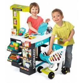 SMOBY - 350206 Obchod Supermarket s čtečkou karet a vozíkem