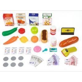 SMOBY - 350210 Obchod Supermarket s čtečkou karet a vozíkem červený