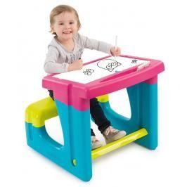 SMOBY - 420102 Školní lavice s tabulí růžová