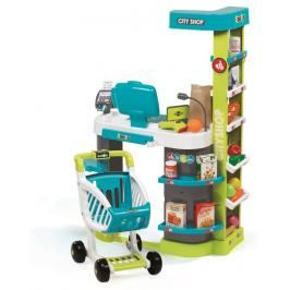 SMOBY - Obchod City Shop modro-zelený