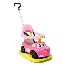 SMOBY - odrážedlo 720614 Auto Ride-on Rocking Růžové 4v1 electronic s houpačkou