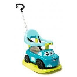 SMOBY - odrážedlo 720615 Auto Ride-on Rocking Modré 4v1 electronic s houpačkou