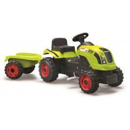 SMOBY - Šlapací Traktor Claas Zelený S Vozíkem