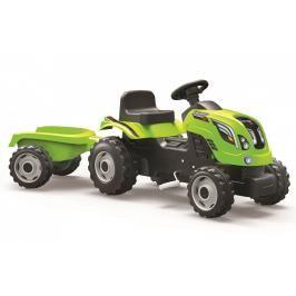 SMOBY - Šlapací traktor Farmer XL zelený s vozíkem