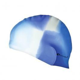 SPOKEY - ABSTRACT-Plavecká čepice silikonová modro -bílá