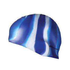 SPOKEY - ABSTRACT-Plavecká čepice silikonová modro-bílé pruhy