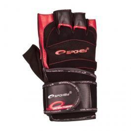 SPOKEY - MITON Fitness rukavice černo - červené vel. L