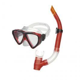 SPOKEY - QUARIUS JUNIOR - Sada brýle + šnorchl červený
